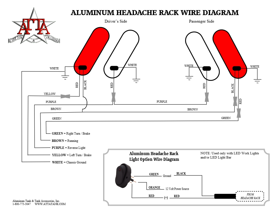 Aluminum Headache Rack Installation Instructions Accessories Wiring Diagram Wire